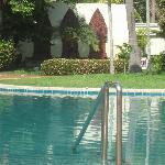 Beautiful pool. VERY warm water!