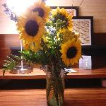 The flowers the hotel staff picked out