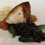 Cape Canaveral Wahoo with Beluga Lentils