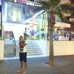 front of hotel Brisa on a night