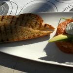 Salmon tartare dish