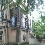 I went back after our tour and took a photo of 432 Abercorn during the day ... too scary at nigh