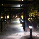 Entry at night from entrance on 6th