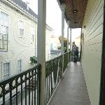Second floor balcony - no view from here but quiet