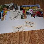 Area brochures and coupons