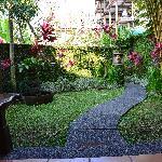 Vista desde la terraza privada al jardín