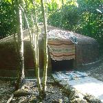 The sweat lodge after we came out