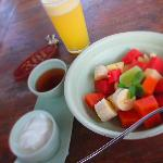 my favourite fresh fruit salad with yogurt and honey~