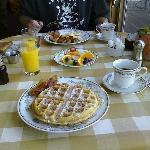 The delicious breakfast