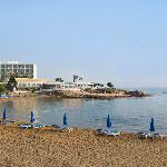 Beach in front of Hotel Pernera