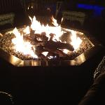 Gas Fire Pit on the Deck