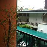 balcone privato e vista esterno