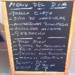 example menu del dia