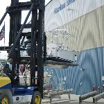 Forklift launch service included in storage fees.