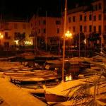 Port in Villa di Gargnano at night