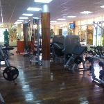 The well equiped gym