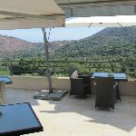vue panoramique terrasse petits dej