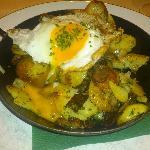(Half eaten) beef and potato rosti