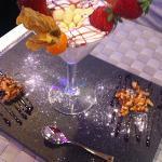 divine white chocolate desert - complimentary tapa!
