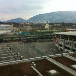 vue de la chambre avec le stade