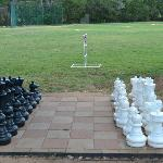 Chess set on our sports field