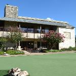 Putting Green and the Bluebonnet Meeting room and the Buckboard Dining Hall
