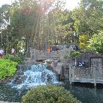 Waterfalls setup at Adventure Golf