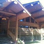 Main lodge building - wonderful log construction