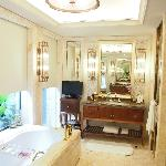 Bathroom with heated marble floors