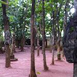 le jardin du site principal de l'hôtel