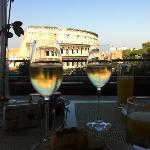 view from the Palazzo Manfredi at breakfast