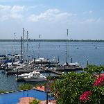 navigation buoys mark the safe channel entrance