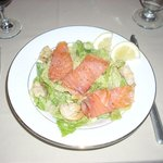 A delightful combination of Caesar Salad with local smoked salmon