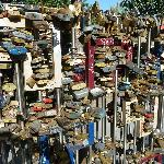 padlocks in the park opposite