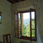 bellissima vista dalla finestra della camera!