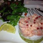 tartare de saumon, mets que nous avons adoré ....