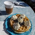 Bluberry waffle at The Point