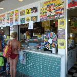 Ordering window at Ice Cream Store