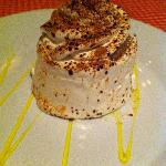 Yummy tiramisu at Italian night at the a la cart restaurant