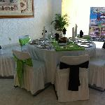 Wedding or event table setup example