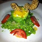 Chicken & avacado salad at Mexican night at the a la cart restaurant