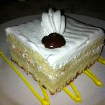 Tres Leches cake at Mexican night at the a la cart restaurant