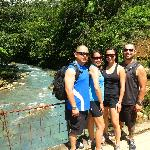 on our hike to Rio Celeste waterfall (about 1 km from the hotel)
