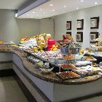 the continental buffet table