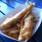 takeaway fish and chips box