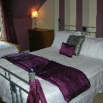 Situated at the top of the house with stunning views over Ben Ledi and the Trossachs. This room