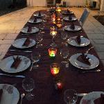 Domaine de Merete ; Repas sur la Terrasse