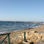 Arina Sand is on the beach