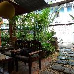 La terrasse et l'accueil