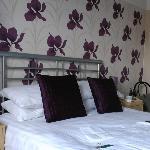 Stylishly decorated bedroom.